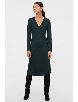 Ribbed Wrap Front Dress by H&M