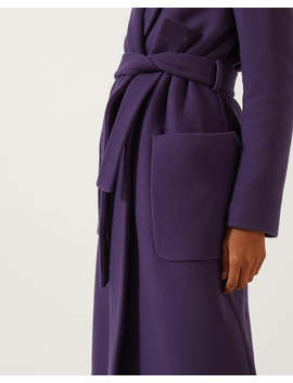 Narrow Belted Wool Coat by Jigsaw