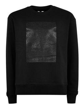 Black Rubber Patch Sweatshirt by Topman