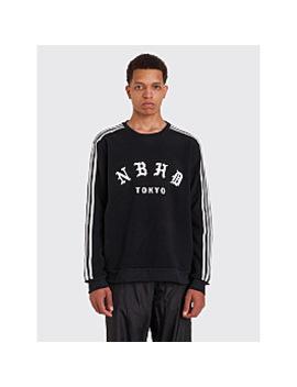 Adidas X Neighborhood Fleece Logo Crew Black by Très Bien