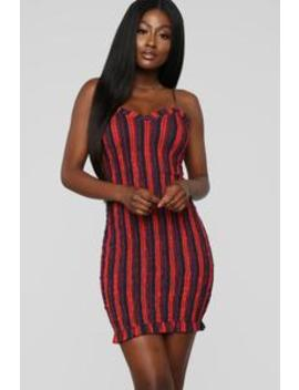 Leaving With You Smocked Dress   Red/Combo by Fashion Nova