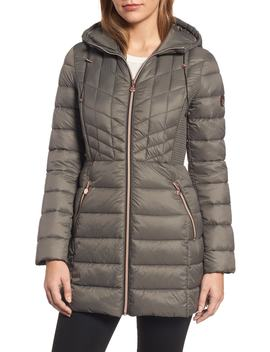 Hooded Packable Down & Prima Loft® Coat by Bernardo