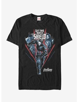 Marvel Avengers: Infinity War Get Captain Shield Run T Shirt by Hot Topic