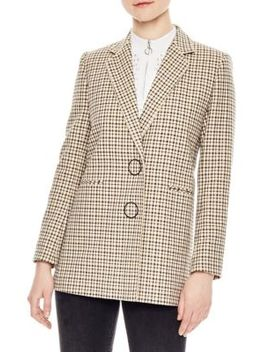 Plaid Blazer by Sandro