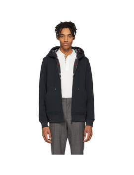 Navy Core Hoodie by Burberry