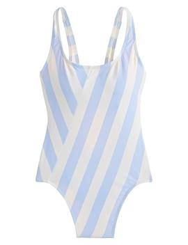1989 Stripe Scoop Back One Piece Swimsuit by J.Crew