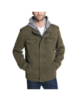 Men's Levi's® Sherpa Lined Hooded Military Trucker Jacket by Levi's