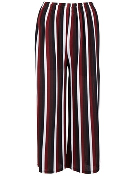 *Izabel London Wine Striped Palazzo Pants by Dorothy Perkins