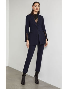 Pleather Trimmed Blazer by Bcbgmaxazria