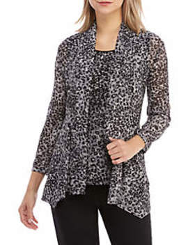 Animal Print Knit Cardigan by Kasper