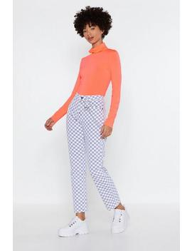 Worth Your Tile Checkerboard Jeans by Nasty Gal