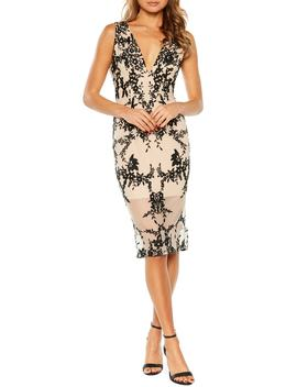 Embroidered Body Con Dress by Bardot