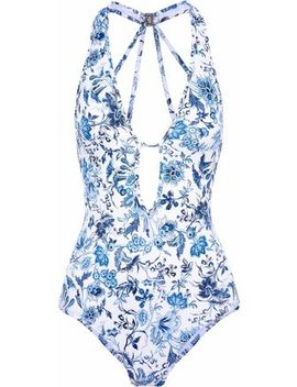 Cutout Floral Print Swimsuit by Jets Australia By Jessika Allen