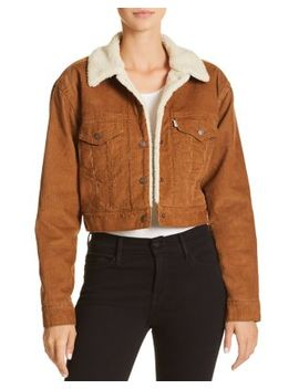 Corduroy Cropped Trucker Jacket   100 Percents Exclusive by Levi's