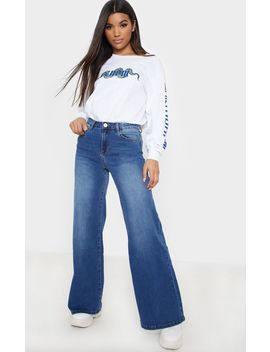 Dark Wash Wide Leg Jeans by Prettylittlething
