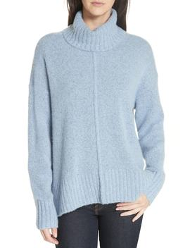 Cashmere Boucle High/Low Turtleneck by Nordstrom Signature