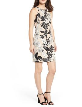 Envelope Neck Sheath Dress by Love, Nickie Lew