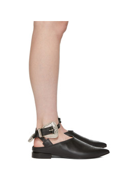 Black Buckle Slippers by Toga Pulla