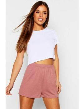 Petite Basic Jersey Curved Hem Pj Shorts by Boohoo