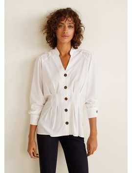 Camisa Com Botões Em Contraste by Mango