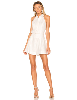 Primrose Halter Collared Romper by Zimmermann