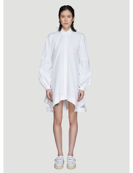 Button Down Puff Sleeve Dress In White by Jw Anderson