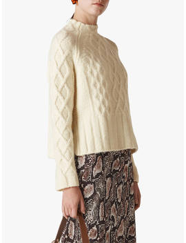 Whistles Modern Cable Sweater, Ivory by Whistles