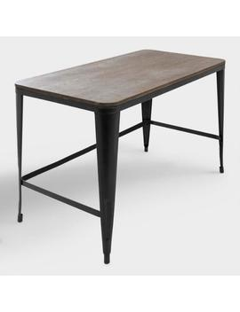Espresso Wood And Black Metal Arwen Desk by World Market
