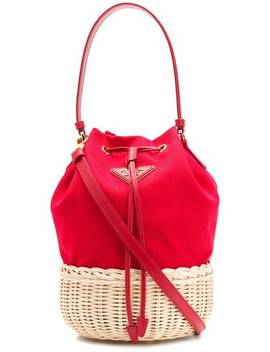 Straw Bucket Bag by Prada