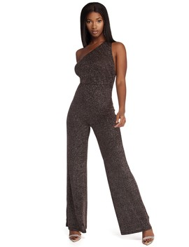 Glitter And Gleam Knit Jumpsuit by Windsor