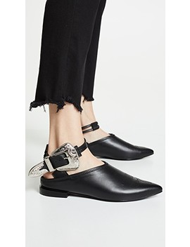 Buckle Ankle Strap Mules by Toga Pulla