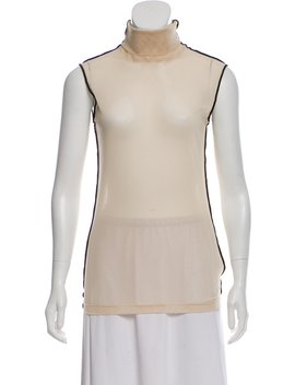 Tulle Turtleneck Top by Helmut Lang