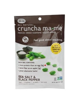 Eda Zen Crunch Ma Me Freeze Dried Edamame Veggie Snack Sea Salt & Black Pepper 0.7 Ounce by Eda Zen