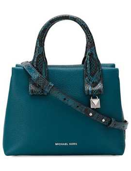 Rollins Small Snake Embossed Satchel by Michael Michael Kors