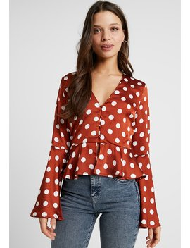 Polka Dot Peplum   Bluse by Missguided Petite