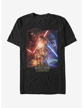 Star Wars Episode Vii Movie Poster T Shirt by Hot Topic
