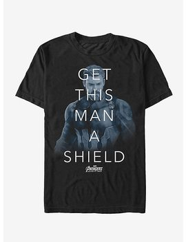Marvel Avengers: Infinity War Get Man Shield Quote T Shirt by Hot Topic
