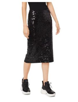 Sequined Jersey Pencil Skirt by Michael Kors
