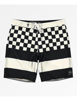 Vans Era Check Black &Amp; White Board Shorts by Vans