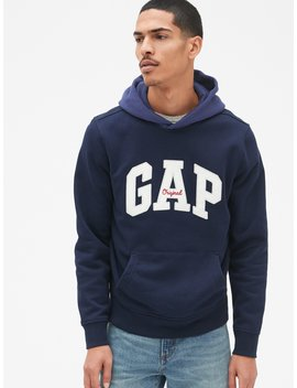 Arch Logo Colorblock Pullover Hoodie by Gap