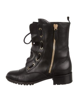 Ruffle Combat Boots by Valentino