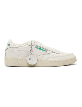 Off White Club C 1985 Sneakers by Reebok Classics
