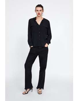 Blouse With Pockets  View All Shirts by Zara