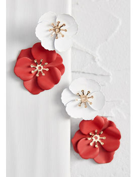 So Totally Blossom Floral Earrings by Modcloth