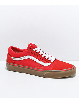 Vans Old Skool Formula Red Gum Skate Shoes by Vans