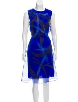 Printed Silk Dress by Vera Wang