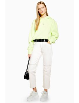 ecru-belted-utility-jeans by topshop