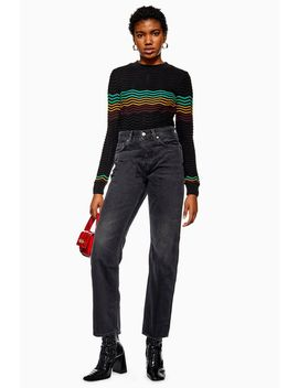 Washed Black New Boyfriend Jeans by Topshop