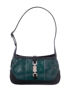 Small Snakeskin Jackie Bag by Gucci