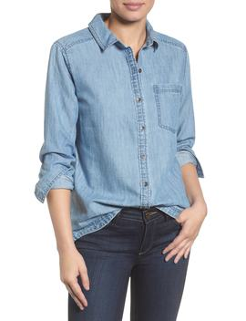 Button Front Chambray Shirt by Caslon®